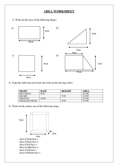 Easy Compound Area And Perimeter Worksheet Goodsnyccom