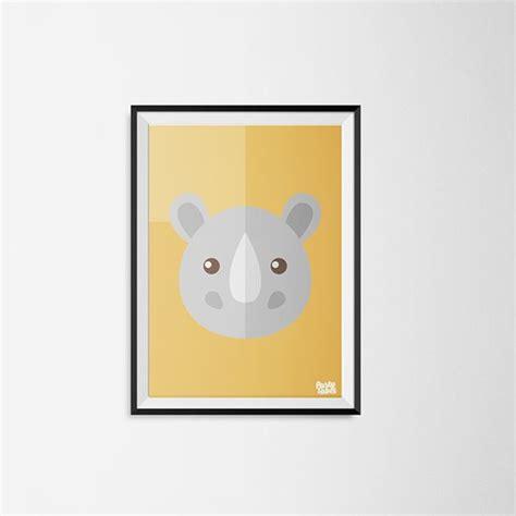 bolcom kinderkamer poster neushoorn geel