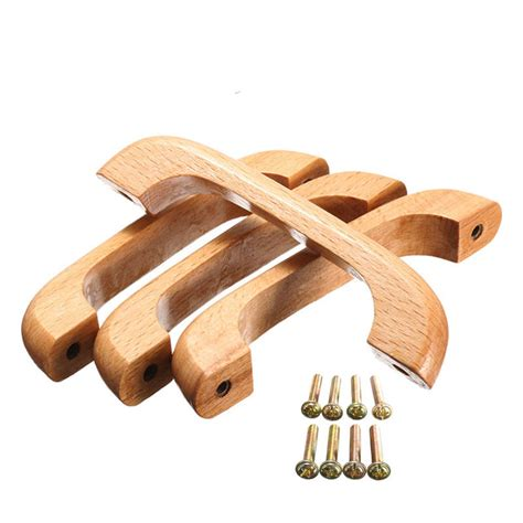 wooden kitchen cabinet knobs mtgather 4pcs 96mm solid wood cabinet handle and knobs 1631