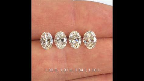 comparing oval cut diamonds   ct    color