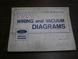 Oem Ford 1970 Wiring Diagram Book Galaxie Mustang Cougar