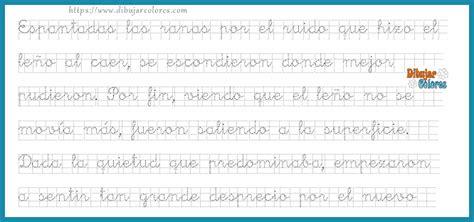 fabulas tres en caligrafia actividades formativas