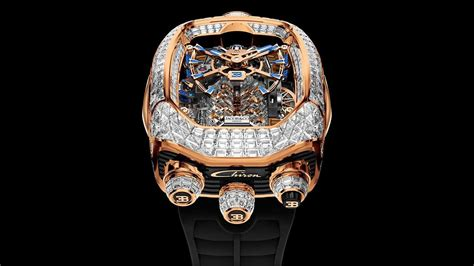 The central crown winds both the. Bugatti Watch With Tiny Working W16 Engine Gets Four More ...