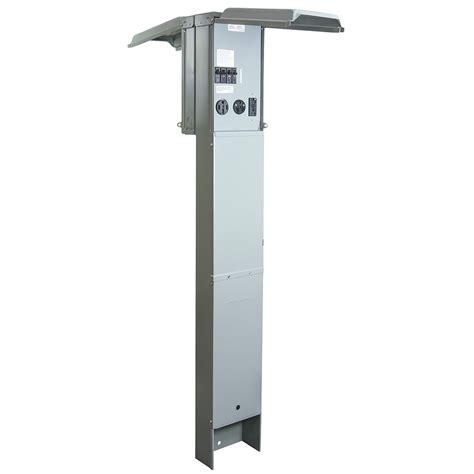 rv electrical pedestal ge ev charger level 2 watt station pedestal with network