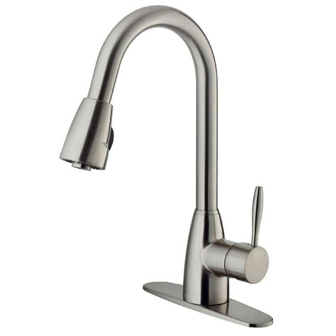 stainless faucets kitchen vigo single handle pull out sprayer kitchen faucet with