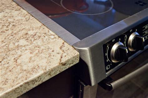 granite countertop height for slide in range getting