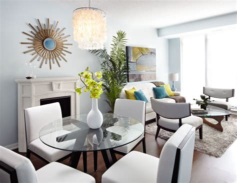 Apartment Living Dining Room Design by Modern Open Concept Condo Dining And Living Room