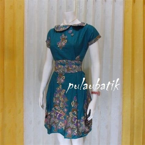 pin oleh mbak ayu  model dress batik modern terbaru