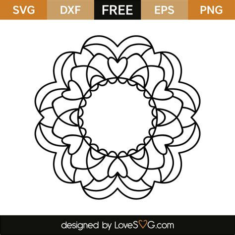 Freesvg.org offers free vector images in svg format with creative commons 0 license (public domain). Mandala | Lovesvg.com