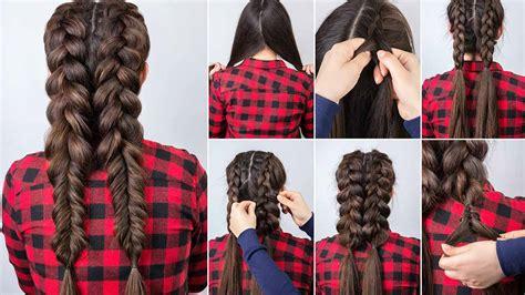 pretty braided hairstyle ideas  long hair loreal paris