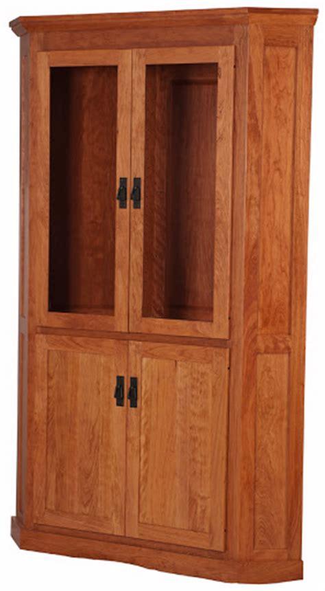 mission corner cabinet solid wood corner cabinet