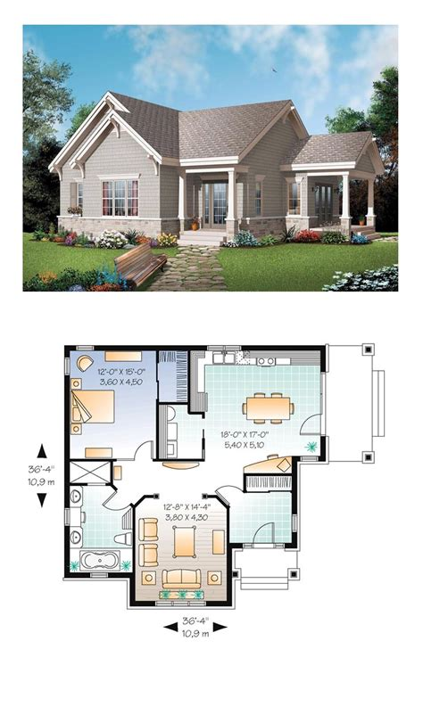 cottage house plan bungalow house plan 65524 total living area 1134 sq ft