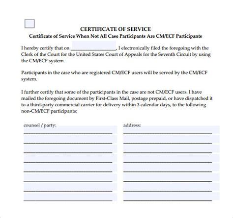 certificate  service templates