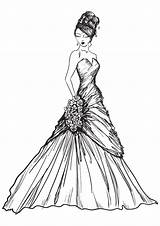 Coloring Pages Printable Gown Please Drawings Any Reproduce Resell Provided Personal Form Been sketch template