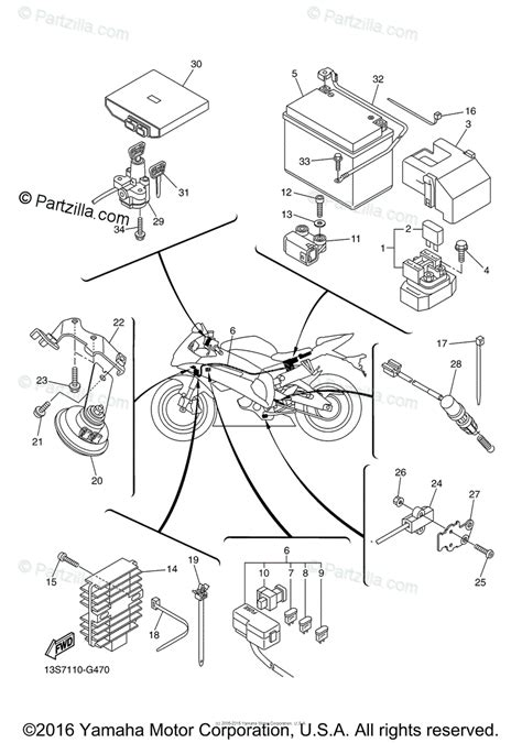 yamaha motorcycle 2010 oem parts diagram for electrical 2 partzilla com