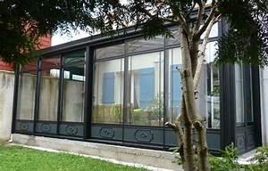 Véranda Fer Forgé : v randa aluminium effet fer forg tryba le verandier ~ Premium-room.com Idées de Décoration