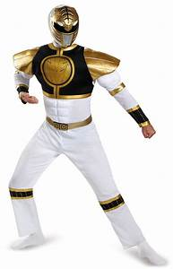 Mighty Morphin Power Rangers: White Ranger Muscle Costume ...