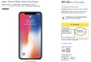 iphone best buy best buy charging a 100 premium on iphone x price