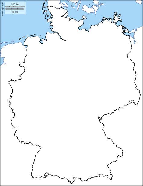 Carte Allemagne Vierge by Allemagne Carte G 233 Ographique Gratuite Carte G 233 Ographique