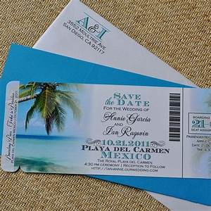 fee boarding pass invitation or save the date tropical With fiji destination wedding invitations