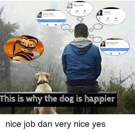 This Is Why Meme - viats cucke spacefriends big nigga bird this is why the dog is happier nice job dan very nice