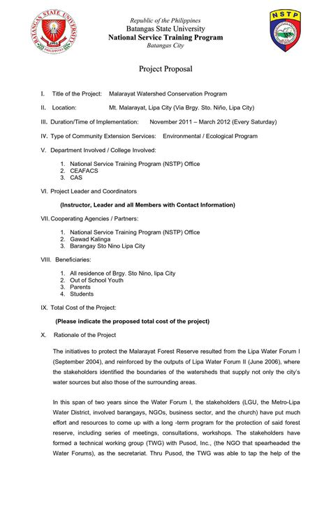 calameo nstp proposal format