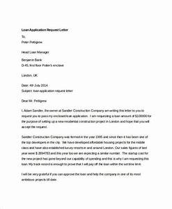 27 free application letter templates free premium With loan application letter to company