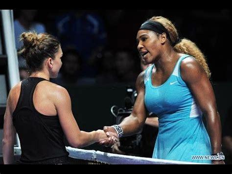 Serena Williams with Simona Halep © Geoff Burke-USA TODAY Sports © Reuters