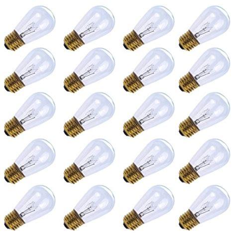 pack of 20pcs 11 watt s14 warm replacement glass bulbs
