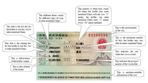 How To Detect Fake China Visa (features Of Chinese Visa