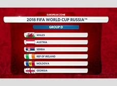 Ireland Get Positive Draw For 2018 World Cup Qualifying