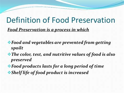 cuisines definition importance of food preservation