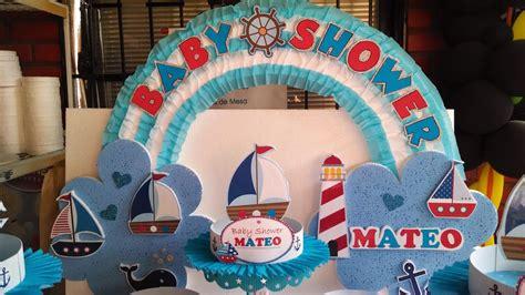 Imagenes De Barcos Para Baby Shower by Decoraci 243 N Nautica Baby Shower Imagui