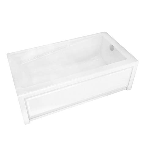 maax new town 6030ifs white acrylic soaker tub with
