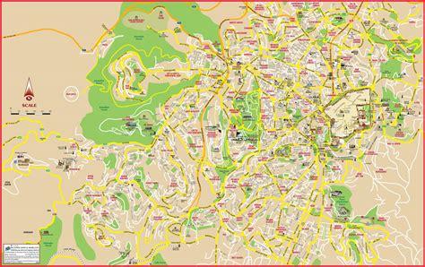 jerusalem tourist attractions map