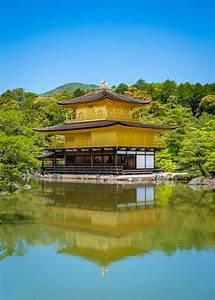 Golden Pavilion Temple In Kyoto  Japan