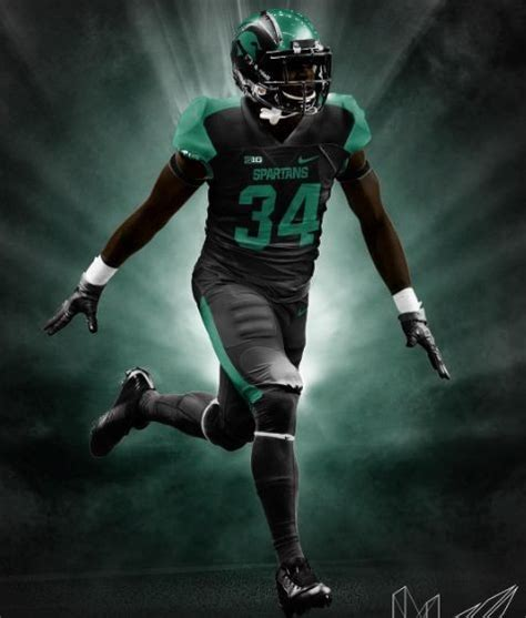 michigan state football check   slick  black