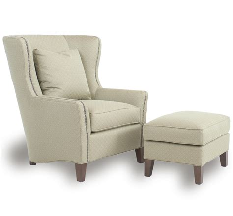 wingback chair  ottoman  smith brothers wolf furniture