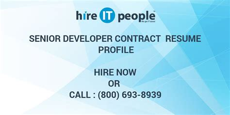senior developer contract resume profile hire  people
