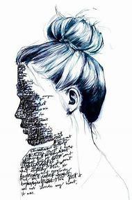 Girl Depressed Pencil Drawing