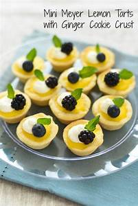 Mini Meyer Lemon Tarts with Ginger Cookie Crust - Foxes