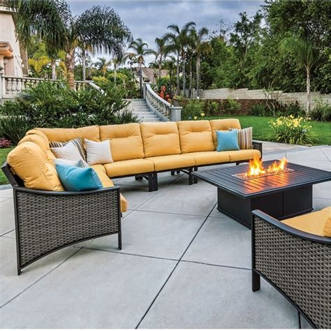 Read through all steps before fastening components together. Tropitone Kenzo Woven Cushion Outdoor Sectional Set with ...