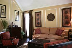 wall molding designs Living Room Eclectic with artwork