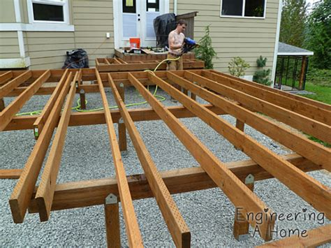 Deck Joist by The Deck Joists Blocking Railing Posts Engineering A