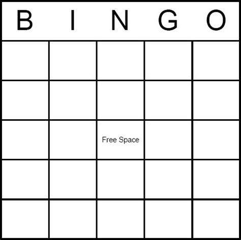Free Blank Bingo Card Printables  Ideas For The 1940's