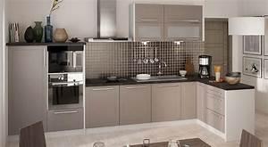 Küchen L Form Modern : k chenzeile k che l form 330 x 150cm grau beige matt neu kaufen bei feldmann wohnen gmbh ~ Watch28wear.com Haus und Dekorationen