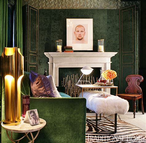 rooms dripping  jewel tones traditional home