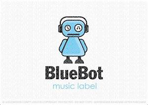 Readymade Logos for Sale Blue Bot | Readymade Logos for Sale