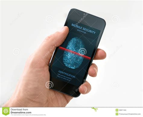 smartphone security holding smartphone with mobile security application