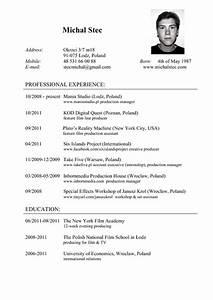 Michal Stec Resume CV PdfSR